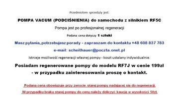 Насос vacum давления - mazda 5 6 rf5c, rf7j, фото 3