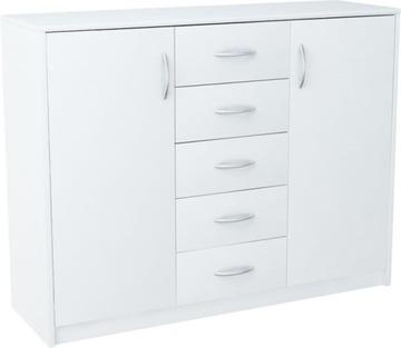 Комод 2D5S WHITE Книжный шкаф с ящиками 110см