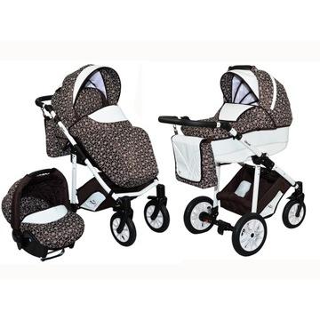 Wózek dziecięcy 3w1 lux głęboki spacerowy fotel