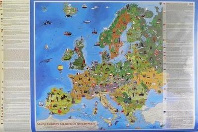 Mapa ścienna Europa Młodego odkrywcy