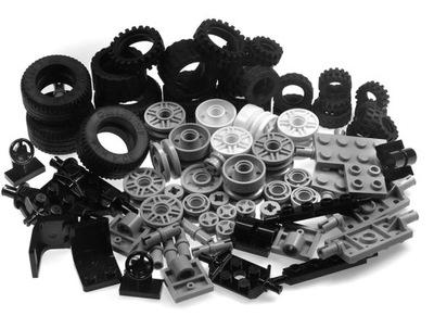 LEGO Koła/kółka Osie i inne - 76 elementów NOWE