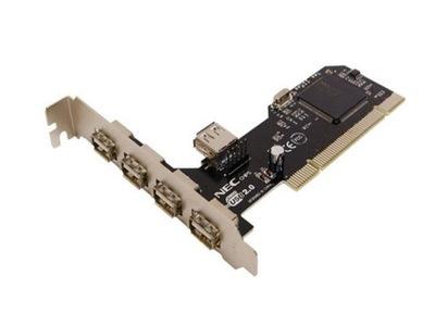 Kontroler PCI USB 2.0 4-porty NEC Win7 10 Szczecin