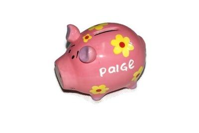 Pokladnička pre deti - Porcelánový prasiatko Paige piggy