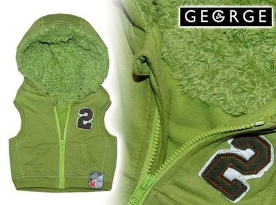 GEORGE * super CIEPŁY BEZRĘKAWNIK na futerku 68-74