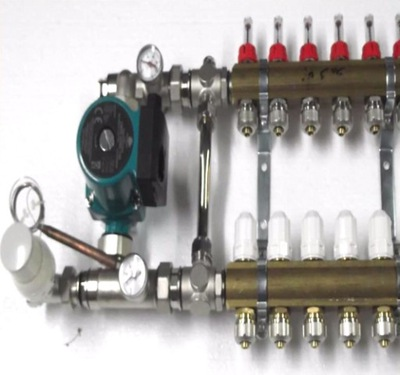 Predné podłogówki 13 čerpadla, ventilov .600