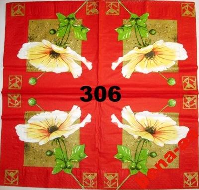 Serwetki do decoupage-2szt- KWIATY -NR 306