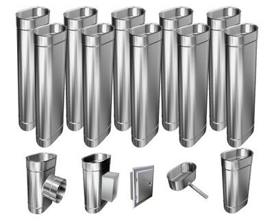 Kotol - 1mm CHIMNEY INSERT 12m 110x220 Tepelne odolný HIT
