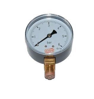 Tlakomer 6 barový závit 1/4 GOSHE tlakomer dole