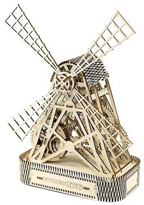 Drevené 3D puzzle-Drevené.Mesto Mlyn