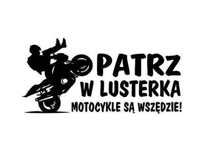 Naklejka Patrz w lusterka motocykle wariaci stunt