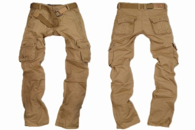 LAQUE LQ2116-27-spodnie bojówki brązowe- r30 hit!!