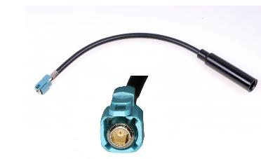 Adapter antenowy FAKRA wtyk - DIN gniazdo do radia