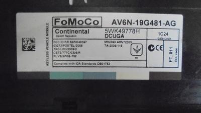 FORD FOCUS MK3 MODUŁ PRZEKAŻNIK AV6N-19G481-AG