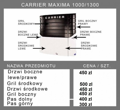 CARRIER MAXIMA 1000-1300 DIFUSORES TAPONES
