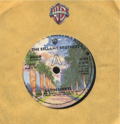 THE BELLAMY BROTHERS - SATIN SHEETS - I'M THE ONLY
