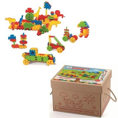 Bloky z priestorových oblátka 200 ele MIX. v kartónovej krabici