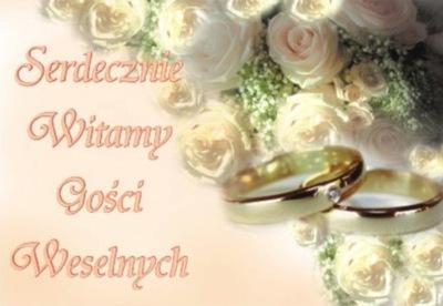 Plakat weselny ozdoby różne wzory ślub wesele