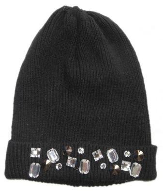 9e2bdf462a6df3 H&M czapka dziewczęca czarna, kokardka 134-152 - 7682422648 ...