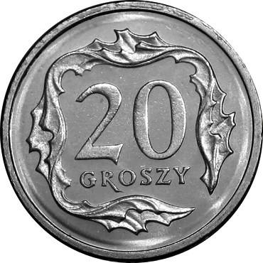 20 gr groszy 1990 mennicza z worka lub rolki