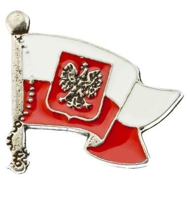 Pin застежка wpinka Марку польский  флаг, ГЕРБ