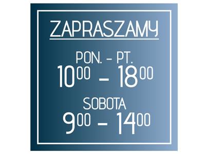 02a23afa3d20c1 Naklejka GODZINY OTWARCIA sklep CZYNNE na szybę 4945803469 - Allegro.pl