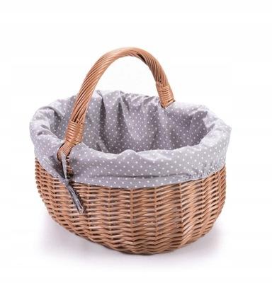 плетеный корзина для шоппинга, с облицовкой материалу