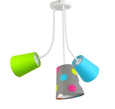 Lampa visí Flexi 3pł farba zelená, blue