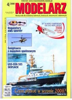Модельер 4 /2008 вставка USS-SSN SKIPJACK и линкор