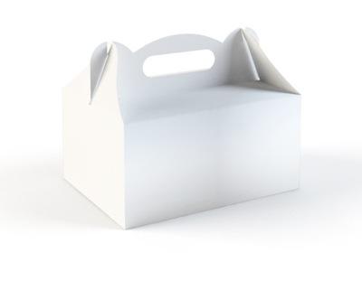 Pudełko na Ciasto Białe Czyste Pudełka Ślub 50 szt
