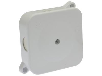 банка настенный герметичный белая 72x72x28 IP44
