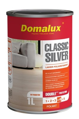 DOMALUX Classic Silver 1л Лак для паркета полумат