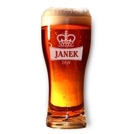Pokal Стакан для пиво с именем, на день рождения