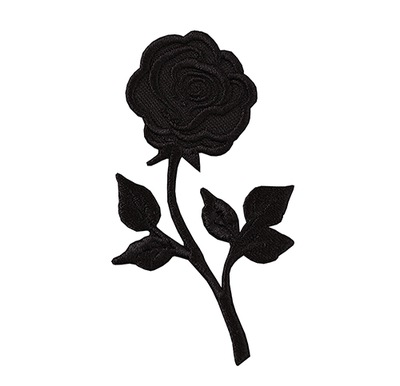 Полоса аппликация Заплатка термо роза черная