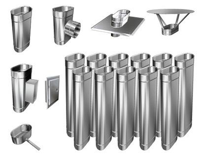Kotol - 1mm CHIMNEY INSERT 100x180 kyselinovzdorná 12m
