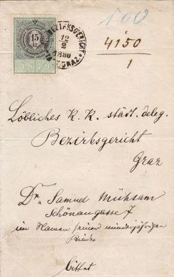 REVENUE - на документе, выставленном в ГРАЦ 1880 года