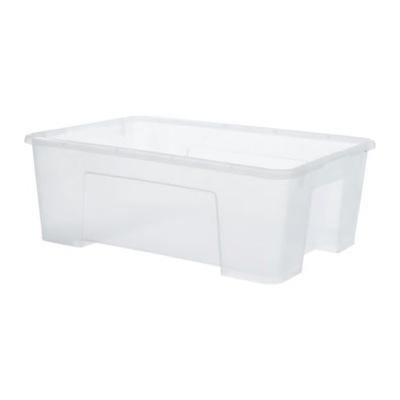 Икеа САМЛА коробка , прозрачный 39x28x14 см/11 L