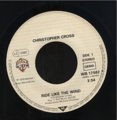 CHRISTOPHER CROSS - RIDE LIKE THE WIND - MINSTREL