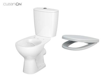 WC misa - CERSANIT KOMPAKT ARTECO CLEAN + DURY BOARD SLOW