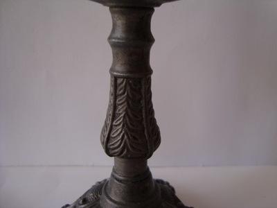 świeczniki rzeźbione,komplet