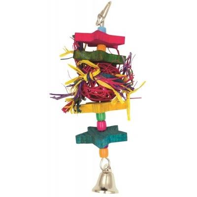 Panama Pet Zabawka dla ptaków z wiklinową kulką