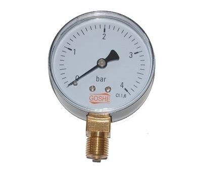 Manometer 4 bar GOSHE fi 63 mm spodný tlakomer