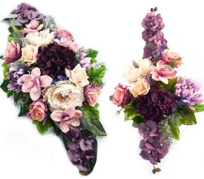 Umelé kvety headdress na hrob zloženie nagrobna