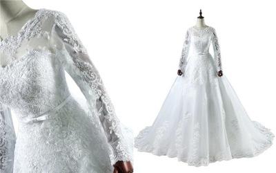 007bd172d8 suknia ślubna wesele ślub biała S M 34 38 - 5563150769 - oficjalne ...