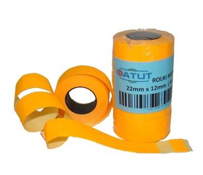 Značky pásky pre metkownicy 22x12 Orange 5 ks