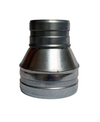 Zníženie 155/120 hadice spiro kapota ventilátor