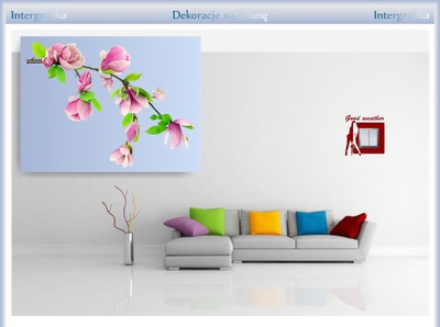 Наклейка декоративная на стену DS 87x110cm