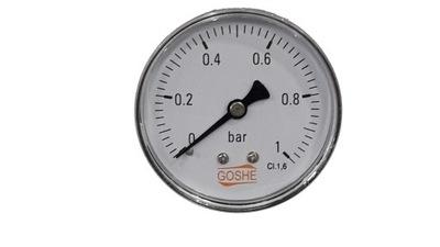 Manometer 1 bar GOSHE fi 63 mm spätný tlakomer