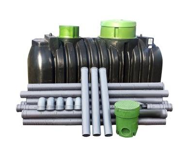 DOMÁCE čističky odpadových vôd ako 2 000 Litrov pre 4 osoby.
