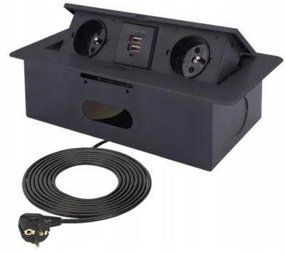 Гнездо Врезные спрятанные в столешницу погрузчик USB Cz