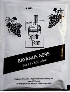 вино дрожжи винных Bayanus G995 SF 10g для 18 %